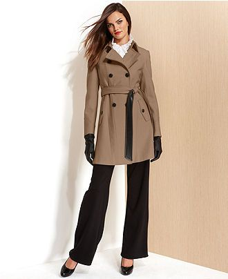 DKNY Cashmere-Blend Belted Trench Coat - Coats - Women - Macy's
