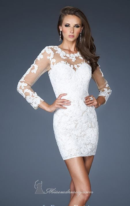 White Dresses For Engagement Party