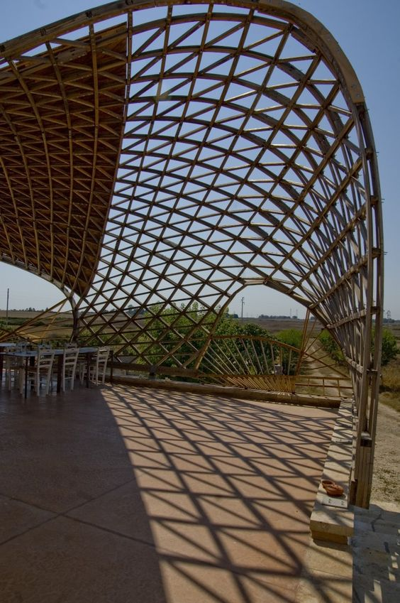 Gridshell in Lecce - shadows www.gridshell.it: