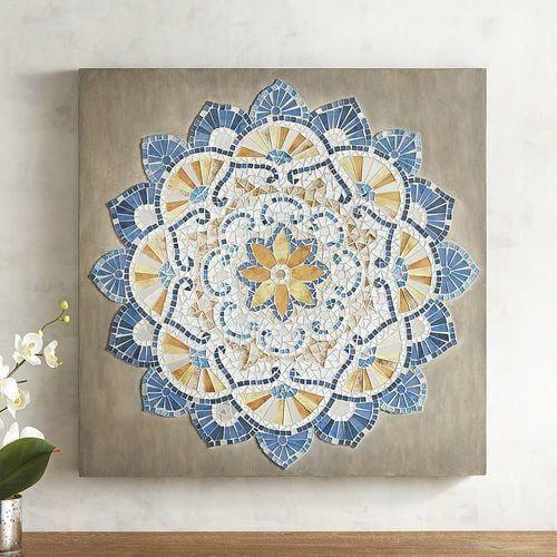 Medallion Mosaic Wall Panel Pier 1 Imports Mosaicos Arte Mosaicos Azulejos