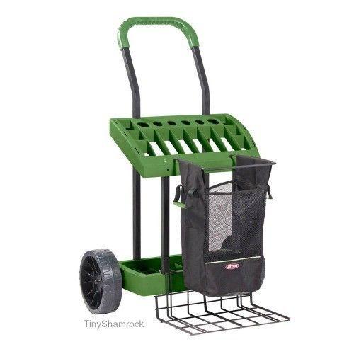 Garden Tool Cart Portable Deluxe Utility Rolling Organizer Lawn