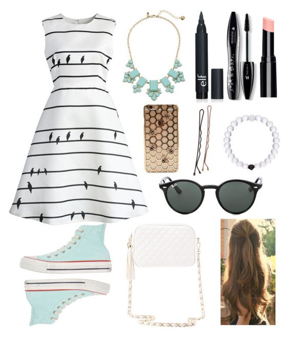 """""""↑Hello↑Hola↑Ciao↑Bonjour↑"""" by teensfashions ❤ liked on Polyvore featuring Chicwish, Kate Spade, Lancôme, Everest, Ray-Ban, Converse and Charlotte Russe"""