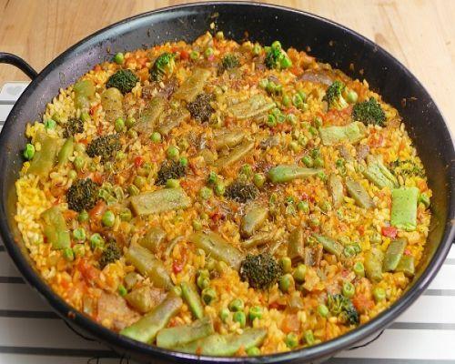 Paella De Arroz Con Verduras Arroz Con Verduras Verduras