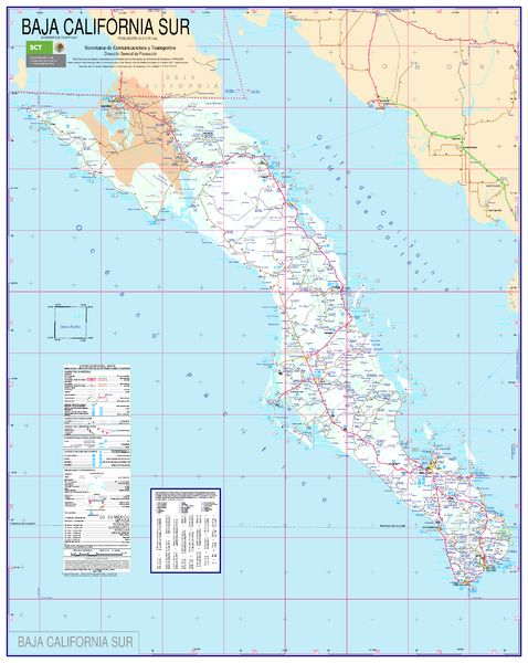 Maps California and Baja california on Pinterest