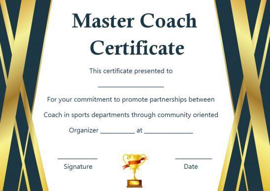 Coach Certificate Of Appreciation 9 Professional Templates