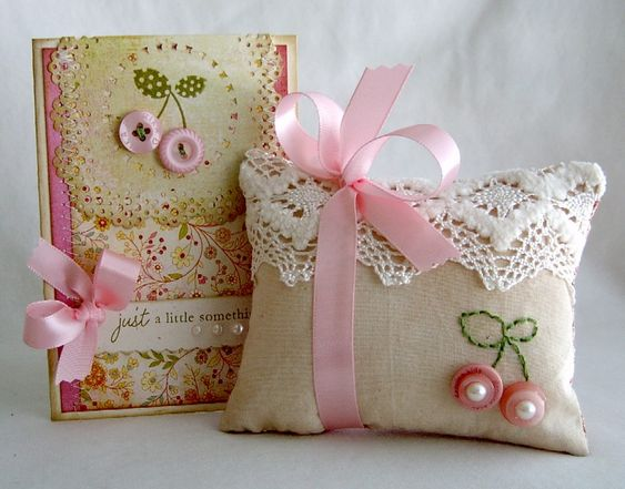 everyday button bits - card and pincushion!