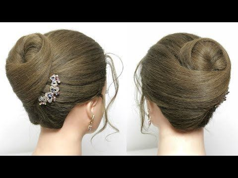 Bridal Wedding Prom Updo Hair Tutorial Long Length Hairstyles Youtube Easy Bun Hairstyles Long Hair Tutorial Hair Bun Tutorial