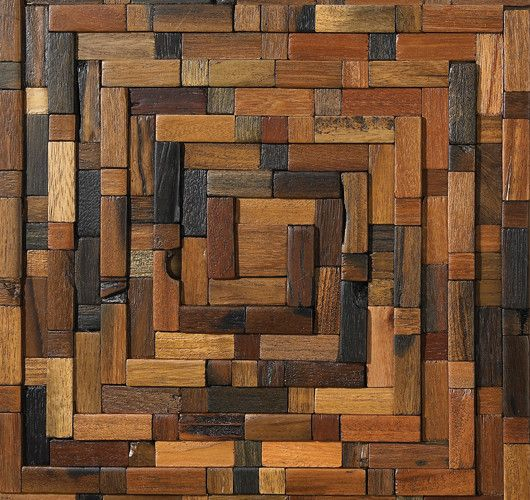 Reclaimed ship-wood wall tiles. -3A Design Studio