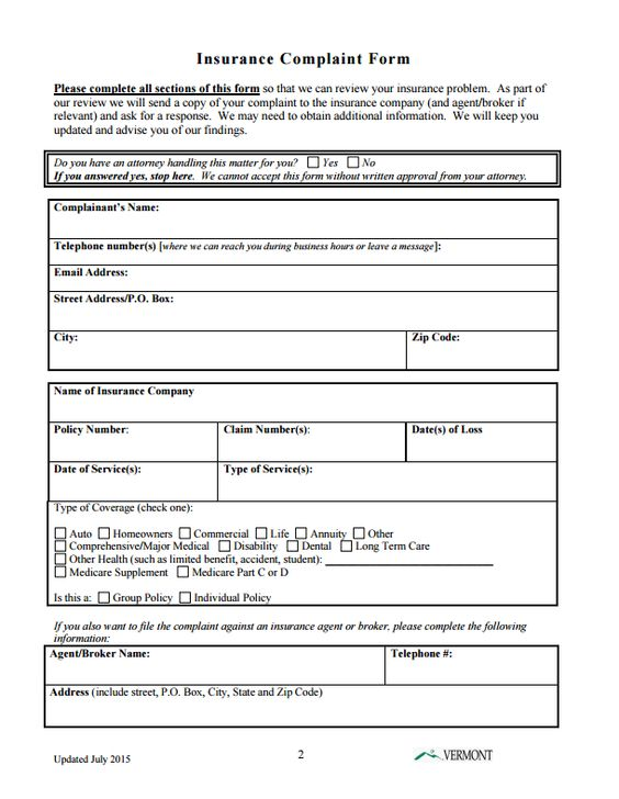 insurance-commissioner-complaints-by-state-vermont-part2of4 - sample medical records release form