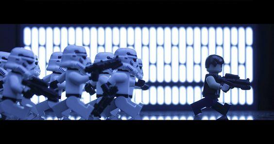 Runnnn!!!!!!!! #starwars #stormtrooper #hansolo #lego