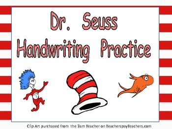 free handwriting practice for dr seuss 39 birthday pinterest. Black Bedroom Furniture Sets. Home Design Ideas