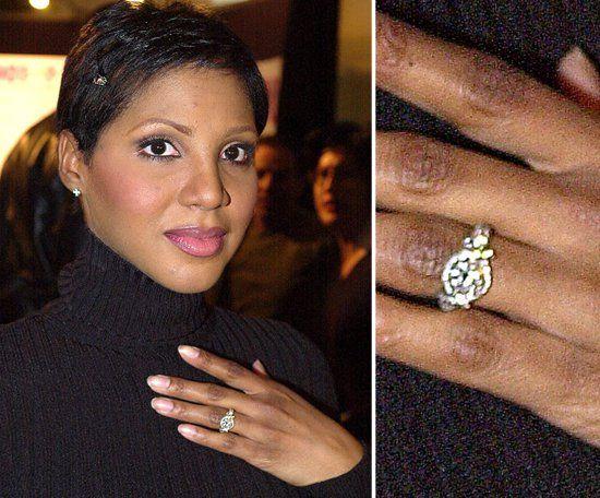 Pin for Later: Die schönsten Eheringe der Stars Toni Braxton Toni Braxton zeigte ihren Verlobungsring von Keri Lewis im Januar 2001.