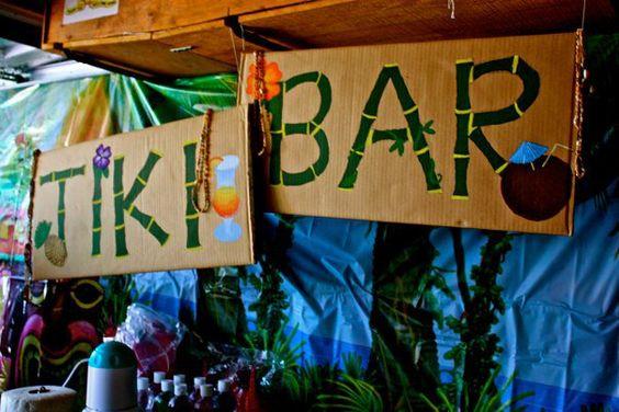 Diy tiki bar sign crafty pinterest tiki bars bar for Homemade tiki bar pics