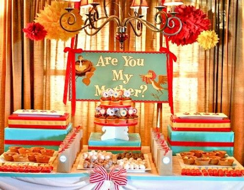 Are You My Mother? Book Birthday Party  Link to 40 Book-Themed Birthday Parties