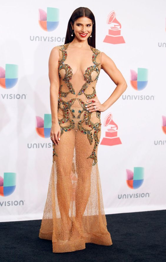 Roselyn Sanchez Ecliptica Dress 2014 Latin Grammy Awards 10 Most Memorable Naked Dresses In