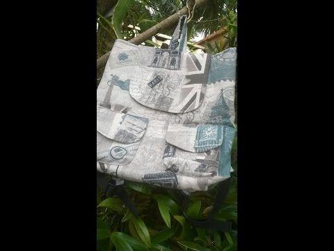 Bolsa mochila com aplicação de dois bolsos diferentes – Adriana Richartz | Cantinho do Video