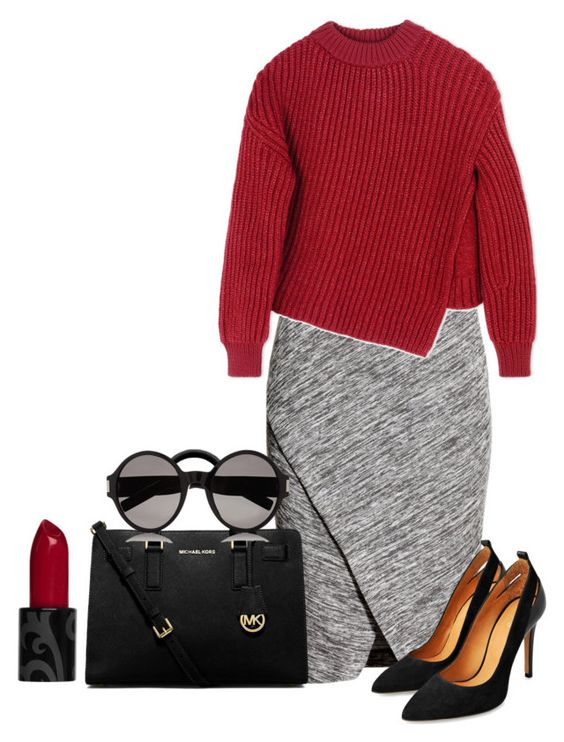 """""""Fab"""" by miss-aminata ❤ liked on Polyvore featuring H&M, Sportmax, MICHAEL Michael Kors and Yves Saint Laurent"""