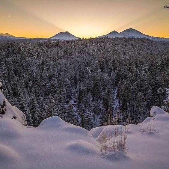 Winter in Central Oregon ---------------------- @extreme_oregon