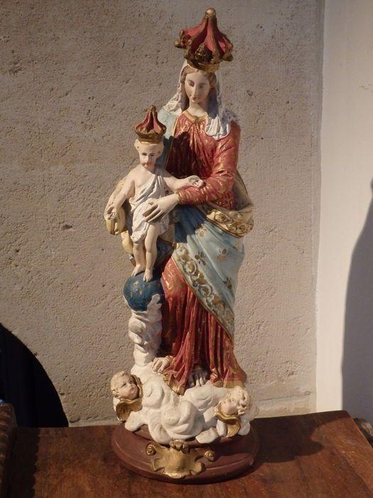 Online veilinghuis Catawiki: Wonderschoon groot Mariabeeld, 'Notre dame des Victoires' - FRANKRIJK - begin 20e eeuw