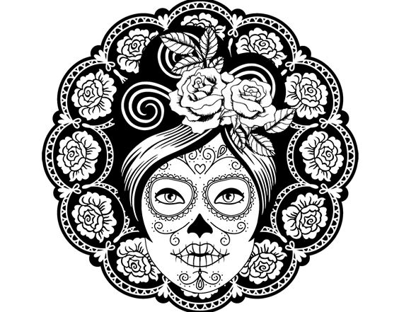 coloriage skulls coloriage de coloriages anti arts plastiques mexicain femme ligne gratuits dessin essayer projets