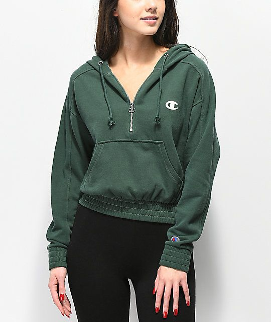 Champion HOODED Hoodie green