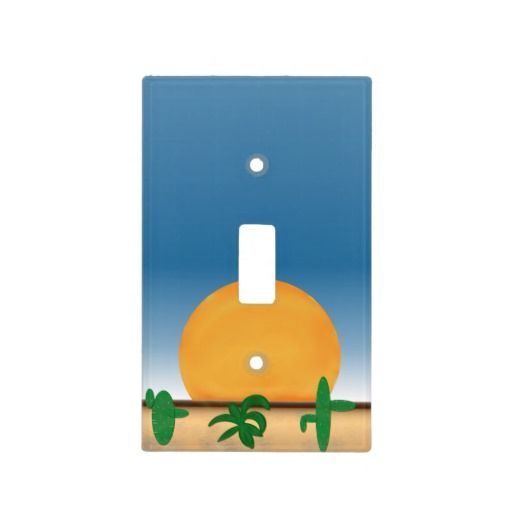Desert Sun Light Switch Cover