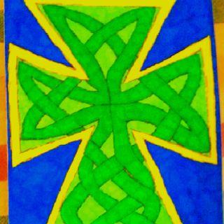 Celtic cross knot-work handmade card