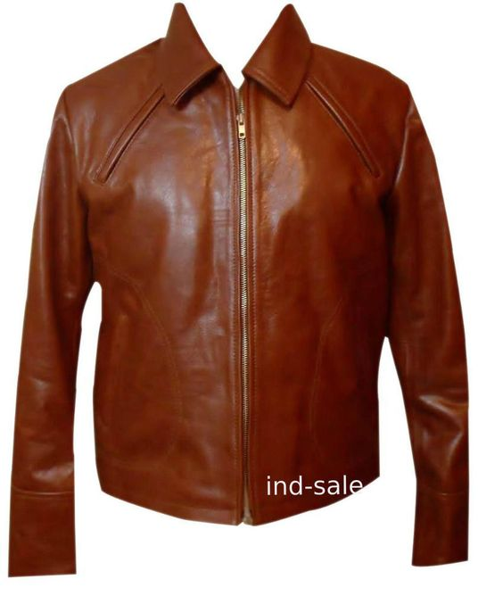 Custom Tailor Made All Sizes Inception ARTHUR Brown Leather Jacket Handcrafted #Handmade #Jackets