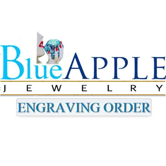 Blue Apple Jewelry Engraving Ordre for Natalie Abbott Engraving Letters. only Infinity Image attached Engraving inside the band
