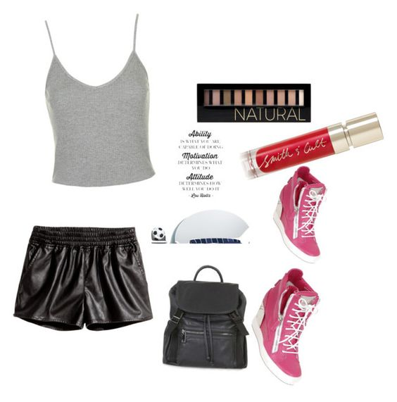 """""""90's Attitude"""" by fredericaehimen ❤ liked on Polyvore featuring Topshop, Giuseppe Zanotti, H&M, Forever 21, Smith & Cult and Belvedere"""