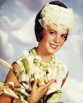 Actress, Natalie Wood. Looks like she's wearing pantaloons on her forehead! :D