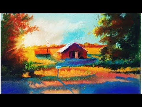 Landscape Drawing For Beginners With Soft Pastels Landscape Painting Youtube Pastel Landscape Landscape Drawing Easy Landscape Drawings
