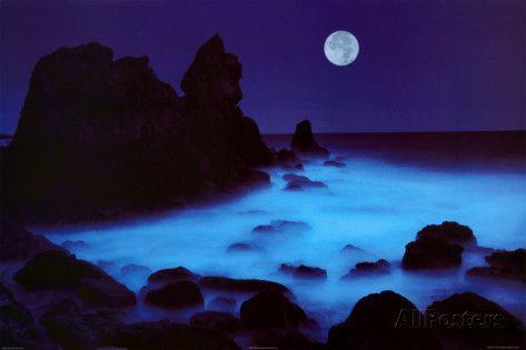 Kalifornische Küste Poster von William Hartshorn