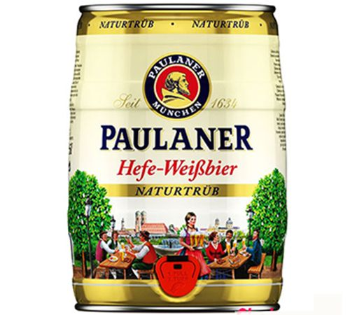 bia Paulaner Hefe Weissbier 5l
