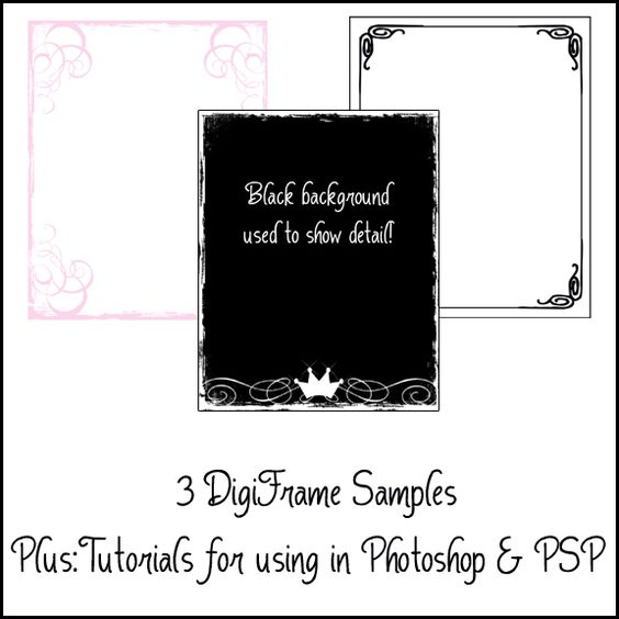FREE! 3 Free Digiframes from the Fairy Pixel