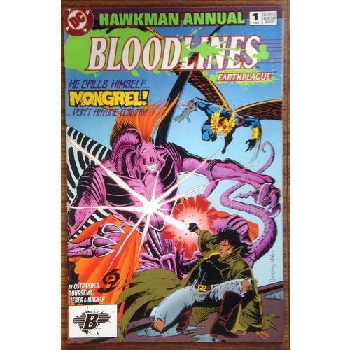 Hawkman Annual Bloodlines Earthplague #1 DC Comic Book 1993