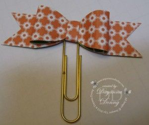 SU Paper Bow Clip photo tutorial using the large oval punch