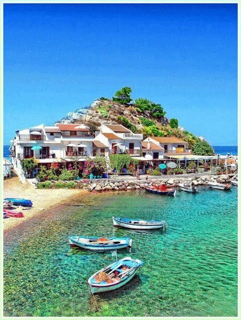 Samos, Greece is popular for being one of the sunniest destinations in all of Europe! Pack your swimwear and plan to enjoy plenty of time on the beach and in the water when you visit!