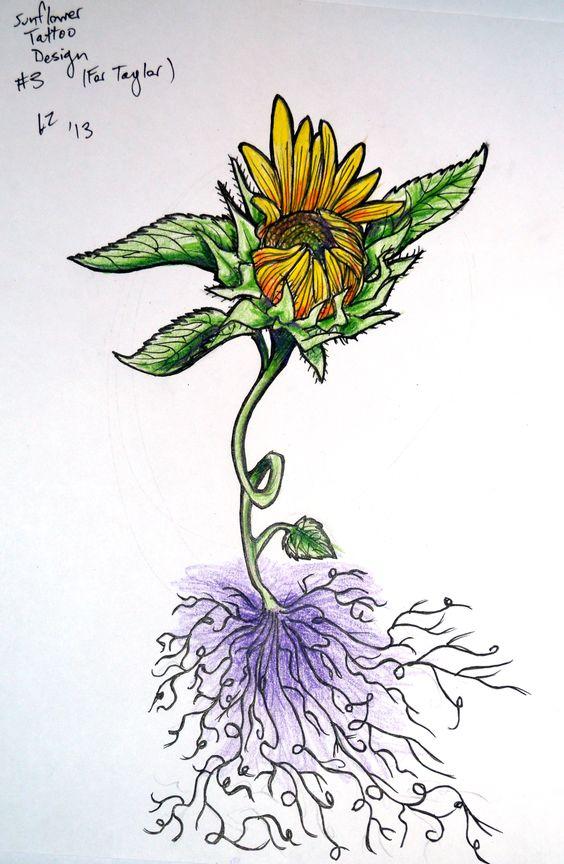Sunflower Tattoo Design 3 by Zeezster on DeviantArt