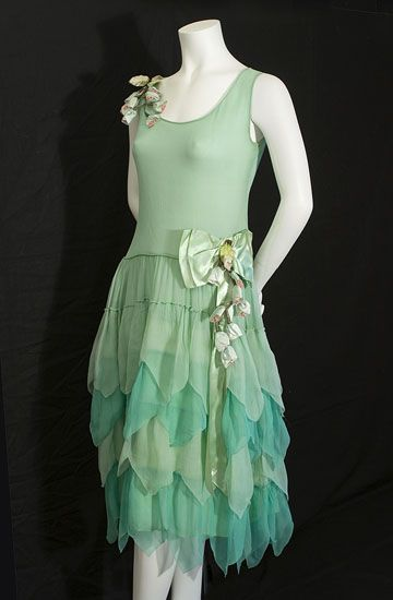 Chiffon party dress, c.1924, from the Vintage Textile archives.: