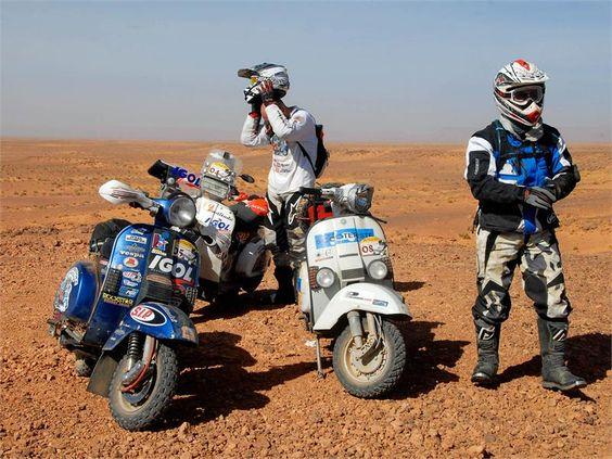 Vespa Raid Maroc 2013