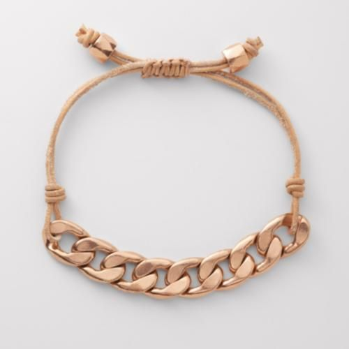 Fossil adjustable charm bracelet $26