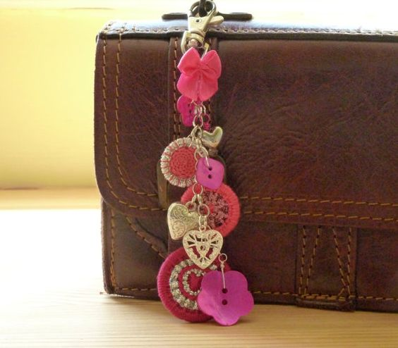 Dorset button bag charm: