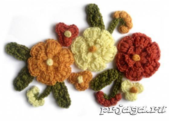 Цветы вязанные крючком