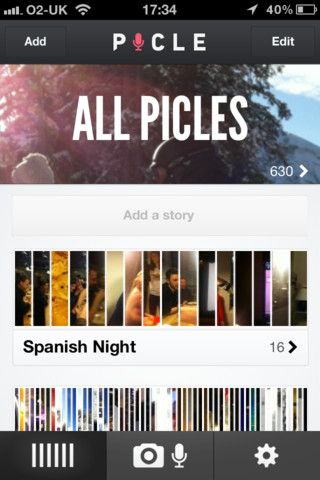 Picle lets you capture moments on your phone, turn them into stories, and share them with your friends