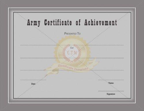 Doc825638 Army Certificate of Appreciation Template Doc825638 – Military Certificate Templates