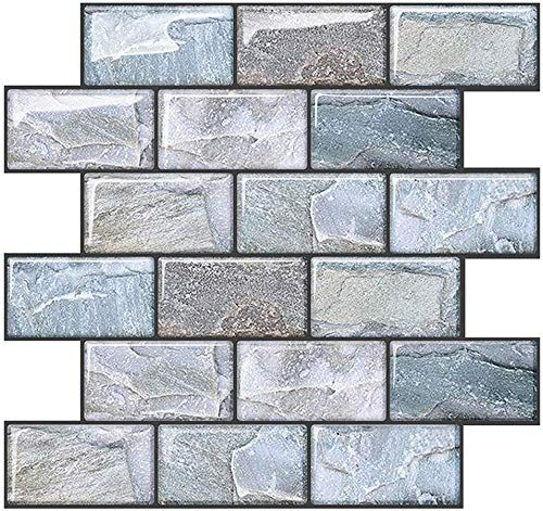 New Joqixon Peel Stick Wall Tile Kitchen Backsplash Subway Tile Backsplash 3d Brick Tile Peel Stick Bathroom Wall Tile Stickers 6 Sheets 10 X10 6 Online In 2020 Kitchen Wall Tiles