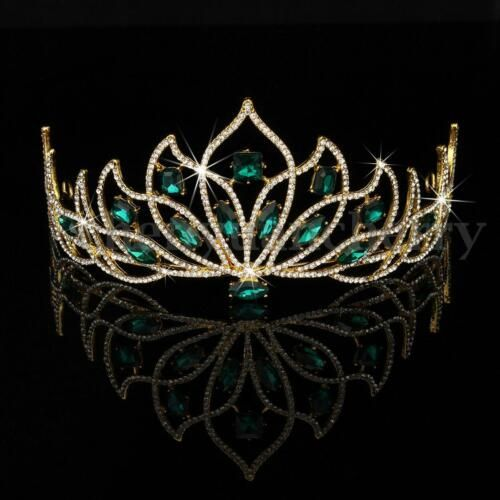 Wedding Bridal Womens Pageant Prom Party Lucky 16 Crystal Tiara Crown Headband
