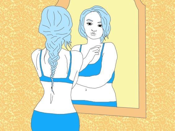 When I was a size 8, I saw myself as a size 10.  As I grew bigger, so did my body dysmorphia.