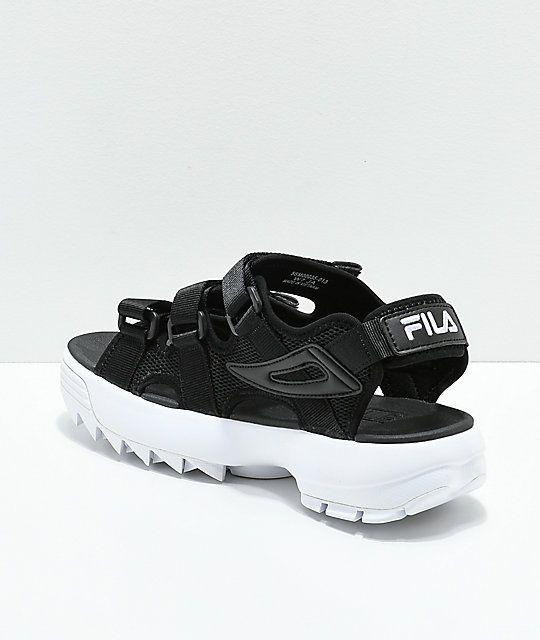 fila disruptor taping platform sandal